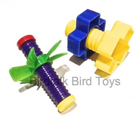 Birdtalk Bird Toys - Wingnut & Nut & Bold