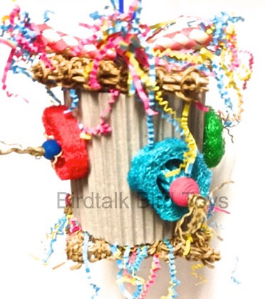 Birdtalk Bird Toys - Stuffed Vine Ball & Loofah