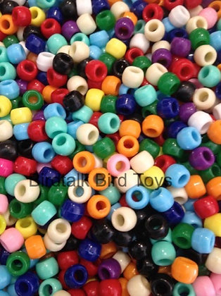 Birdtalk Bird Toys - 30gr of Opaque Pony Beads