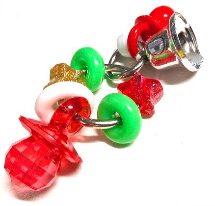 Birdtalk Bird Toys - Christmas Pacifier Rings