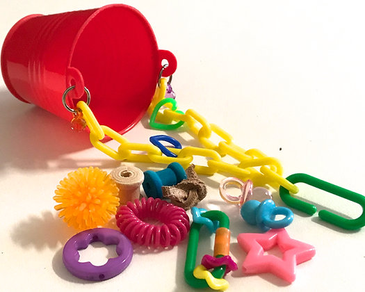 Birdtalk Bird Toys - Baby Bucket and Toys