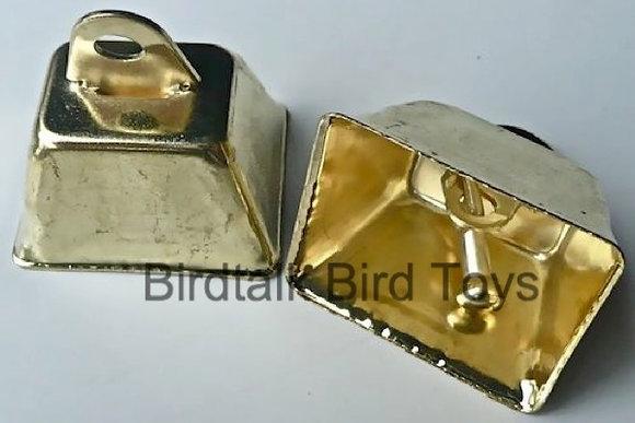 Birdtalk Bird Toys - 1 x 32mm Gold Cowbells