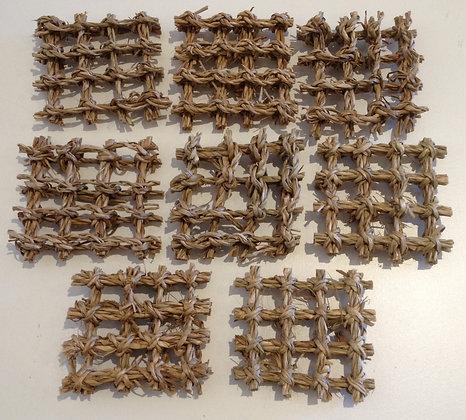 Birdtalk Bird Toys - 8 Seagrass Squares  Toy Parts