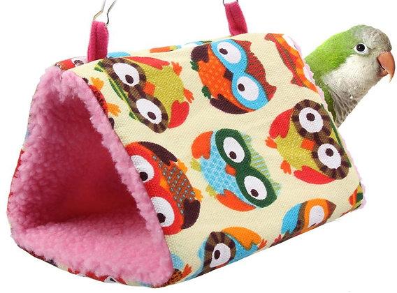 Birdtalk Bird Toys - Bird Hammock Owls on Cream