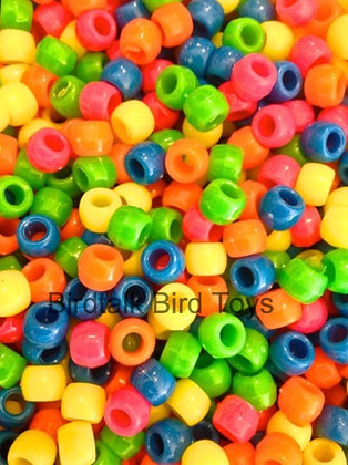 Birdtalk Bird Toys - 30gr of Neon Pony Beads Toy Parts
