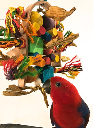 Birdtalk Bird Toys - Bound in Leather