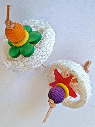 Birdtalk Bird Toys - 1 x Loofah Slices