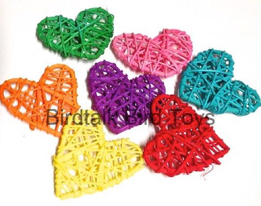 Birdtalk Bird Toys  4 x 6cm Vine Hearts