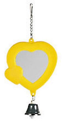 Birdtalk Bird Toys - Heart Mirror