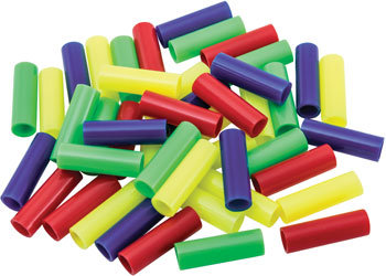 Birdtalk Bird Toys - 24 Plastic Straw Beads - Toy Parts