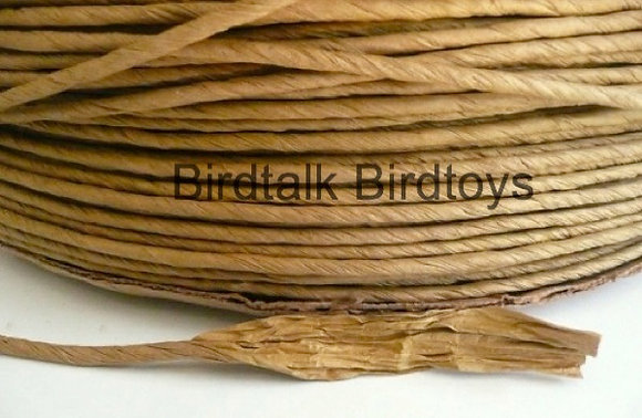 Birdtalk Bird Toys - 1 Meter of Natural Twisted Craft Paper