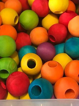 Birdtalk Bird Toys -  12 x 2.5cm Wooden Beads