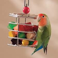 Birdtalk Bird Toys -1 Small Baffle Cage Unfilled