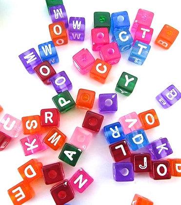 Birdtalk Bird Toys - 30 Transparent Alphabet Beads