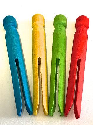Birdtalk Bird Toys - 4 Wooden Dolly Pegs