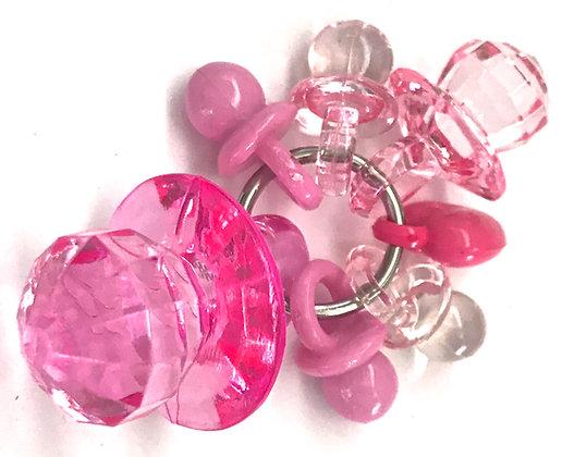Birdtalk Bird Toys - Pacifiers - Pink
