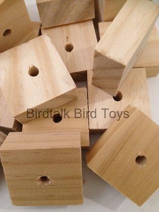 Birdtalk Bird Toys - 8 Untreated Pine Blocks