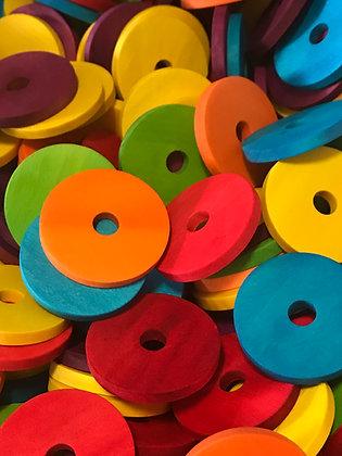 Birdtalk Bird Toys - 12 Coloured Discs - Toy Parts
