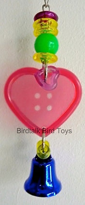 Birdtalk Bird Toys - Button Heart