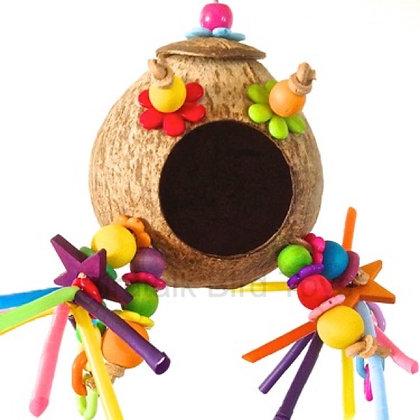Birdtalk Bird Toys - Coconut Hideaway