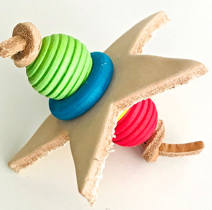 Birdtalk Bird Toys - Leather Star