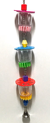 Birdtalk Bird Toys - 3 Foraging Cups