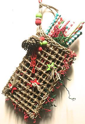 Birdtalk Bird Toys - Christmas Stocking Lg 30 x 16cm