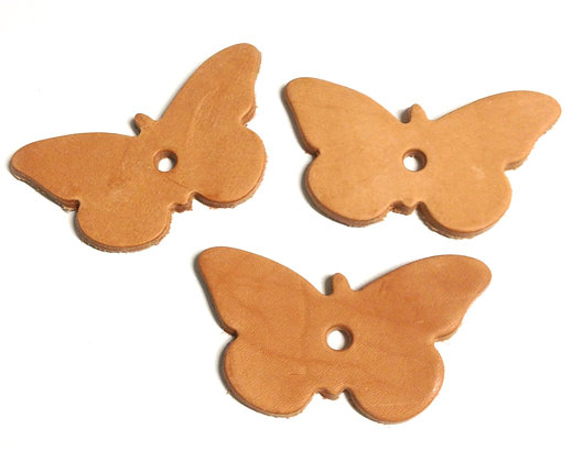 Birdtalk Bird Toys - 3 Leather Butterflys