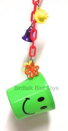 Birdtalk Bird Toys - Smiley Face Treat Mug