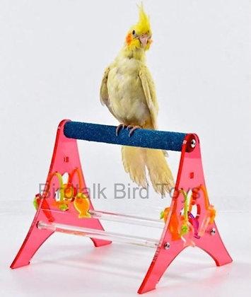 Birdtalk Bird Toys - Acrylic Table Top Stand