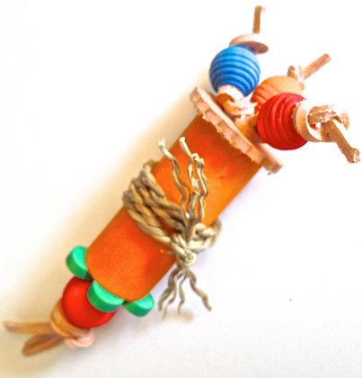 Bird Toy BARREL AND BEADS Foot Toy