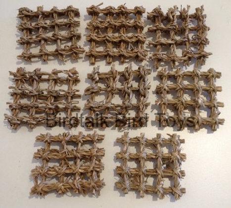 Birdtalk Bird Toys - 8 Seagrass Squares