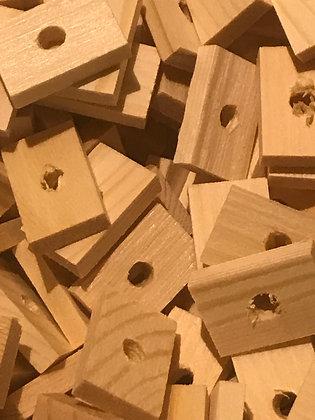 Birdtalk Bird Toys - 20 Pine Rectangles - Toy Parts