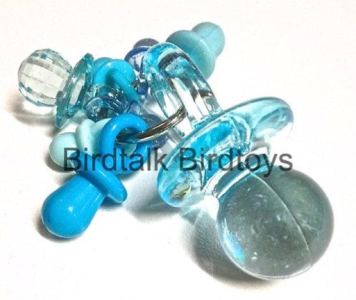 Birdtalk Bird Toys - Lots of Pacifiers - Blue