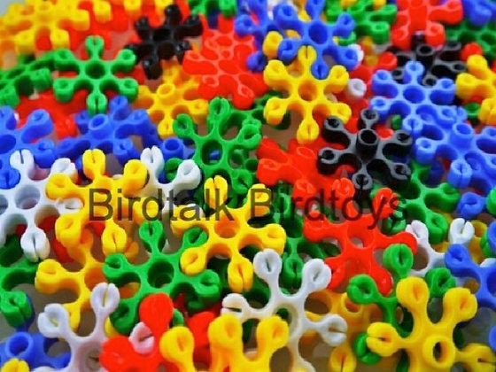 Birdtalk Bird Toys - 10 Flower Connectors Toy Parts