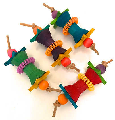 Birdtalk Bird Toys - 1 Spool and Stars
