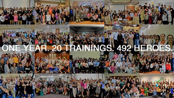 One Year. 20 Trainings. 492 Heroes.