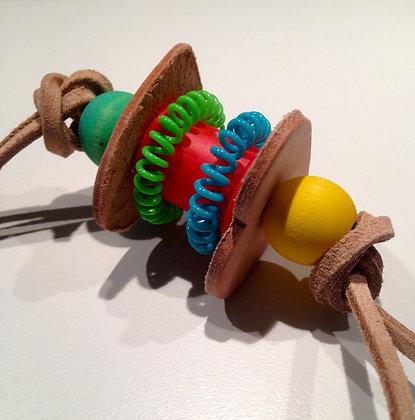 Birdtalk Bird Toys - Spool and Leather