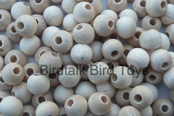 Birdtalk Bird Toys - 20 x 1.6mm Natural Wooden Beads Toy Parts