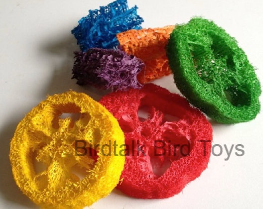 Birdtalk Bird Toys - 6 Loofah Pieces