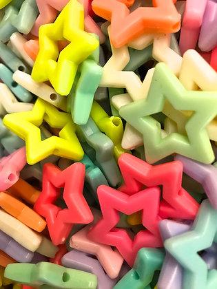 Birdtalk Bird Toys - 24 Acrylic Star Beads