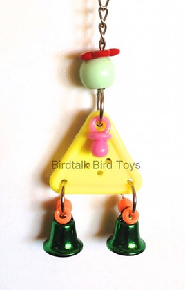 Birdtalk Bird Toys- Big Button and Bells