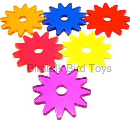 Birdtalk Bird Toys - 1 Acrylic Wheel 6.5cm