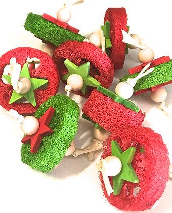 Birdtalk Bird Toys - 1 Christmas Loofah Slice
