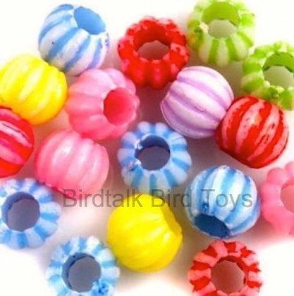 Birdtalk Bird Toys - 100 Pumpkin Beads Toy Parts