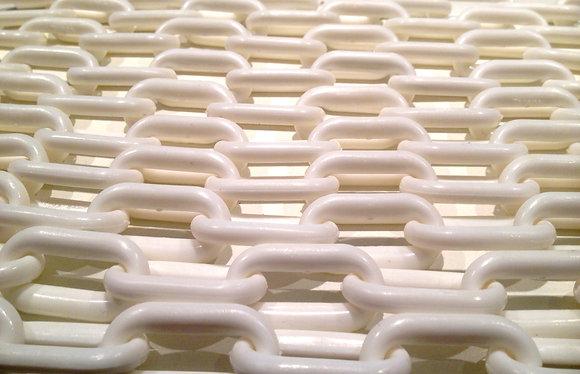 "Birdtalk Bird Toys - 1meter of 3/4"" White Plastic Chain - Toy Parts"