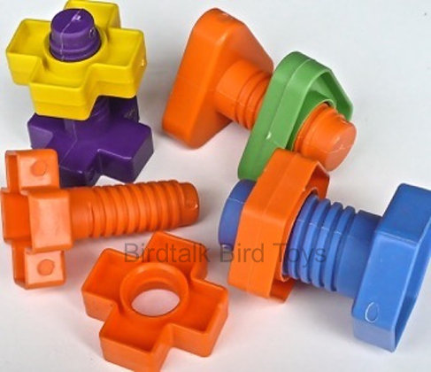Birdtalk Bird Toys - 1 Large Plastic Nut & Bolt