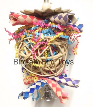Birdtalk Bird Toys - Stuffed Vine Ball