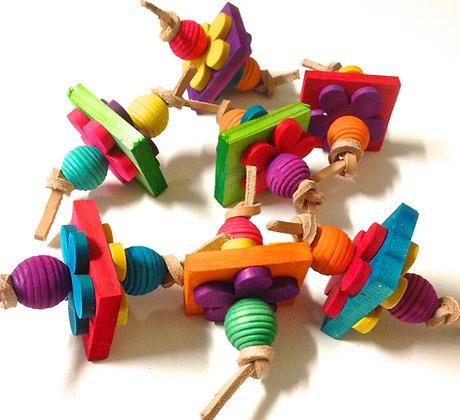 Birdtalk Bird Toys - 1 Wooden Wafer Foot Fiddler