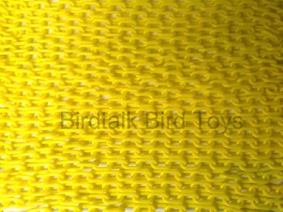 "Birdtalk Bird Toys - 1meter of 3/4"" Yellow Plastic Chain Toy Parts"